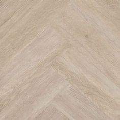 Floer Visgraat PVC Vloer Crèmewit Eiken - Visgraat Vloeren Met V-Groef Hardwood Floors, Flooring, Living Spaces, Living Room, Floor Colors, New Home Designs, Future House, Sweet Home, New Homes