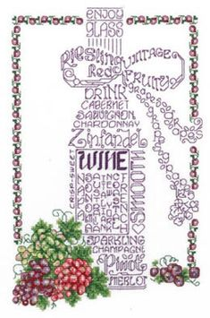 Let's Do Wine - Cross Stitch Pattern