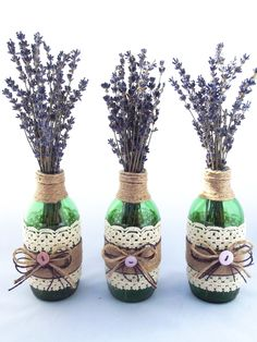 Levens Hall Lavender Decorated Jars, Handmade Decorations, Ceramic Vase, Dried Flowers, Home Gifts, Vases, Flower Arrangements, Lavender, Ceramics