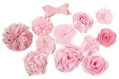 DIY Crafting Flowers Color Pack Headband Flower Assortment for Hair Accessories - Pink * You can find more details by visiting the image link.