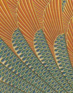 "patternbase: Japan, circa 1978 A fine wool panel featuring an ancient Egytian motif. This textile has a small label on its backside that states ""Made in Japan. 100% wool. The Treasures of Tutankhamun. Dry-clean only. MMA"", which indicates that it was created in Japan specifically for the the museum shop during the important Tutankhamun exhibit held at the Metropolitan Museum of Art in 1978. Very good condition: the panel is professionally glued to a board backing. 43"" x 43""…"
