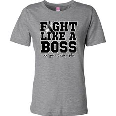 Carcinoid Cancer Fight Like a Boss shirts, apparel, tees and gifts featuring a sporty design with an awareness ribbon and the powerful motto: fight, defy and win.To fight like a boss is to own it with confidence and perseverance like a boss brought to you  by awarenessribboncolors.com #fightlikeaboss #carcinoidcancerawareness #carcinoidcancershirts