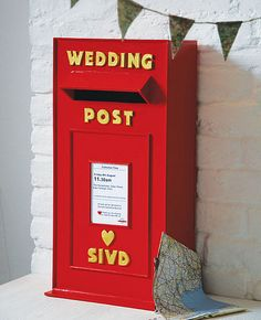 wedding post box for cards- starting to really love this idea...
