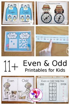 1+ Even & Odd Printables & Activities - Fun math centers and worksheets for even and odd numbers with no-prep and hands-on even and odd activities - 3Dinosaurs.com #evenodd #secondgrade #firstgrade #thirdgrade #mathforkids #mathprintables #3dinosaurs Math Activities For Kids, Preschool Math, Math For Kids, Kids Learning, Numbers For Kids, Math Numbers, First Grade Math Worksheets, How To Teach Kids, Even And Odd