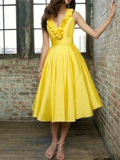 Navy and yellow wedding