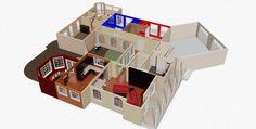 revised 3d rendered floor plan