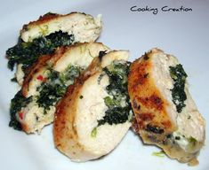 Cajun Chicken Stuffed with Pepper Jack Cheese & Spinach