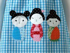 Modèle de robe tablier KOKESHI et guide de par Ottobredesign