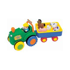 Kiddieland Farm Tractor with Trailer - Sing a Long Songs, Animal Sounds, Tractor - Includes Farmer & 5 Animals! Toys Uk, Farm Toys, Preschool, Animals, Front Yards, Google, Gifts, Collection, Ideas