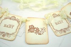 Vintage Style Owl Baby Garland