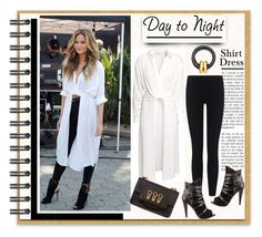 """""""Day to Night: Shirt Dress"""" by affton ❤ liked on Polyvore"""