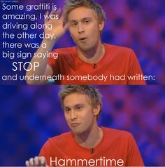 I love Russell Howard. British Humor, British Comedy, Mock The Week, Comedian Quotes, Russell Howard, Funny Jokes, Hilarious, Laughing So Hard, Just For Laughs