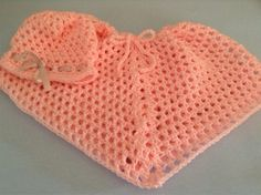 Julie's Lifestyle: Crocheted Baby Hat and Poncho Set