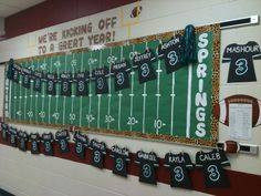 Board I made for my friend who's a 3rd grade teacher- she requested a football theme. Go Jags!