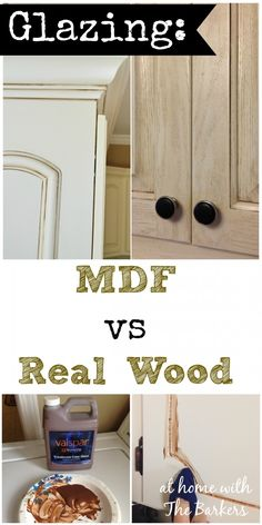 Glazing MDF versus Real Wood Kitchen Cabinets #paint #kitchen #homedecor