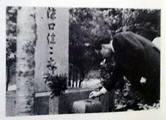 Godard visiting Mizoguchi's grave