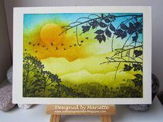 Stamping Mariëtte: Landschap