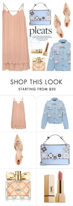 """Pleats, please!"" by helenevlacho ❤ liked on Polyvore featuring River Island, Anouki, Gucci, Fendi, Avon, Yves Saint Laurent, pleats and contestentry"