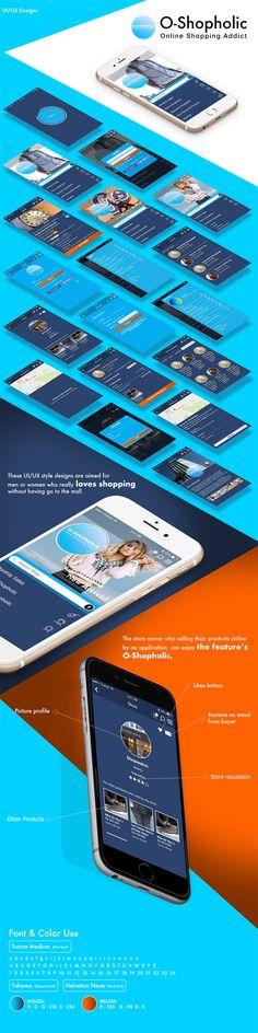 Mockup iOS application design for O-Shopholic.
