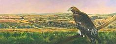 "Uncompahgre Gold by Nancee Jean Busse Acrylic ~ 12"" x 30""- Original Colorado Landscape Painting With Eagle ""Uncompahgre Gold"" by Colorado Artist Nancee Jean Busse, Painter of the American West-http://nanceejean.com/works/1304424/uncompahgre-gold"