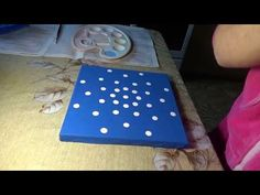 "Dot painting mandala. Acrylic Painting. Element ""Air"". - YouTube"