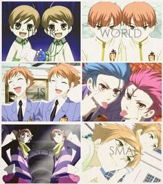 To everyone but haduhi Manga Anime, All Anime, Anime Love, Anime Guys, Ouran Highschool Host Club, Ouran Host Club, High School Host Club, Hikaru Y Kaoru, Host Club Anime