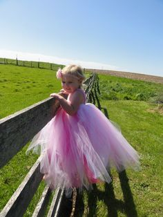 Youth Child Size 58 Shabby Chic Tutu Dress  by PinkPosieCouture, $95.00