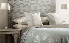gorgeous colours & patterns for master bedroom