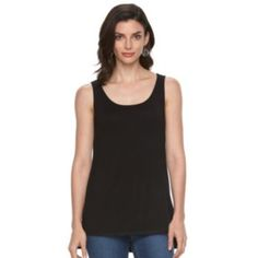 Women's+Croft+&+Barrow+High-Low+Scoopneck+Tank