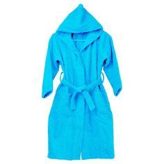 4ac0029b3e TERRY HOODED 100% COTTON SKY BLUE BATHROBE Men s Robes