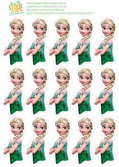 Print out onto cardstock for easy DIY Cupcake Toppers Disney Frozen Princess Queen Elsa Frozen Fever Party, Frozen Theme, Frozen Birthday Party, 4th Birthday Parties, Girl Birthday, Elsa Frozen, Disney Frozen, Anna E Elsa, Queen Elsa