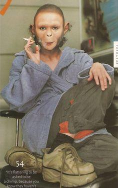 Helena Bonham Carter on set of Planet of the Apes