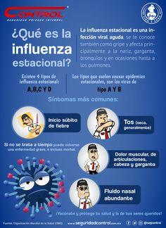 En esta temporada de frío es posible que aparezcan enfermedades como la influenza estacionaria. Para que la conozcas y puedas prevenir contagiarte, te dejamos la siguiente información. #YoSoyControl #FamiliaControl #VidaSana #Influenza Influenza Estacional, Flu, Healthy Life