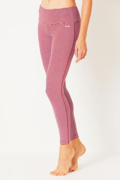 b1630178ce Snuggly Bamboo Leggings - Chilli Pepper & Lupin Marl Stripe Striped Leggings,  Women's Leggings,