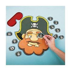 Pin The Eye Patch on the Pirate Game - Up to 12 players $5.99