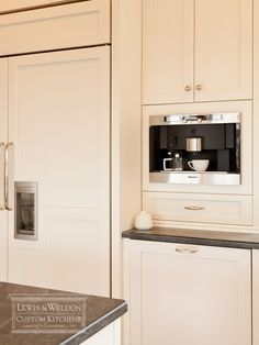 Lewis and Weldon kitchens white kitchen white kitchen cabinets white kitchen cabinetry brushed nickel hardware brushed nickel cabine - Coffee Maker - Ideas of Coffee Maker