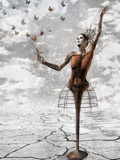 Surreal Painting - Still Believe by Jacky Gerritsen Jacky, Believe, Photo Exhibit, Thing 1, Inspirational Posters, Surreal Art, Photomontage, Dark Art, Sell Your Art