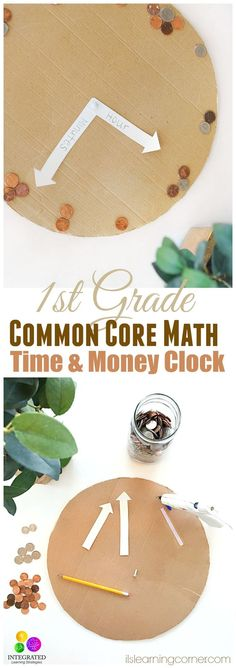 How Time and Money is Teaching 1st Graders Common Core Math | ilslearningcorner.com