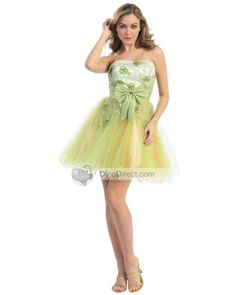 Angel Bridal Organza Strapless Thigh Length Applique Bowknot Cocktail Dress - DinoDirect.pt