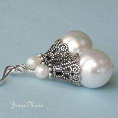 freshwater pearl earrings, pearl drop earrings,wedding pearl earrings,bridal pearl earrings,bridesma - Women's style: Patterns of sustainability Pearl Earrings Wedding, Pearl Drop Earrings, Bridesmaid Earrings, Stud Earring, Diamond Earrings, Bridal Earrings, Jewelry Crafts, Wire Jewelry, Beaded Jewelry