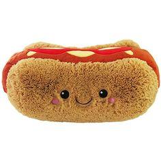 Squishable / Comfort Food Hot Dog 15 Plush … Food Pillows, Cute Pillows, Kawaii Plush, Cute Plush, Food Plushies, Yummy World, Cute Stuffed Animals, Squishies, Cute Food