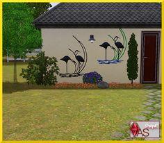Shayalis-Wandbild-Kranich  Sims 3  Metall-Wandbild für die Hauswand mit Kranichmotiv.  Metal mural for the house wall with Common Crane motif.  https://www.allaboutsims.net/forum/index.php/Thread/16065-Shayalis-Wandbild-Kranich/?postID=78036#post78036