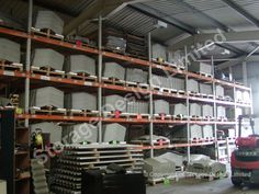 This racking is being used for storage of concrete formed products Concrete Forms, Storage Design, Lockers, Shelving, Projects, Home Decor, Homemade Home Decor, Shelves, Warehouse Design
