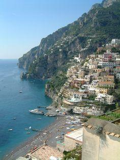Positano on the beautiful Amalfi coastline