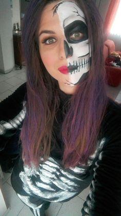 Halloween teschio umano