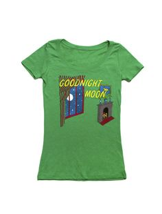 Out of Print Goodnight Moon Book Women's Scoop Neck Vintage Inspired T-Shirt (Small)
