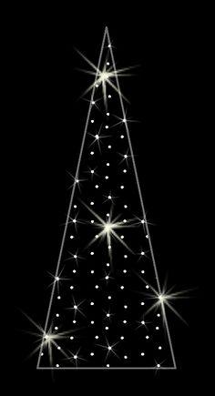 LED dekorácia do okna - stromček - 600mm x 280mm - OMD11-L