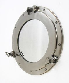 "High Quality Aluminum Chrome Finish 15"" Ship's Cabin Porthole Mirror Nautical Wall Decor with Free Shipping!"