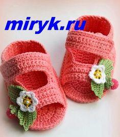 Delicadezas en crochet Gabriela: 10 Modelos en Tutoriales de : Sandalias fáciles de bebé