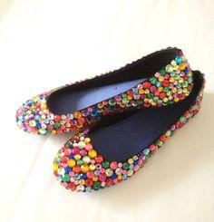 Wedding shoes? Rainbow Rhinestone Flats!